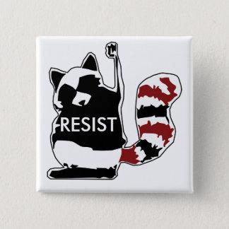 Verzet me tegen de Politieke Knoop van de Wasbeer Vierkante Button 5,1 Cm