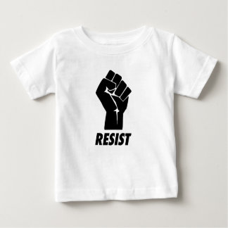 verzet me tegen vuist baby t shirts