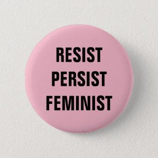 Verzet tegenme voortduren het Feministische Roze Ronde Button 5,7 Cm
