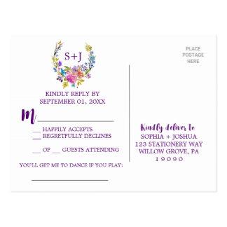 Verzoek RSVP van het Lied van de Kroon van het Briefkaart