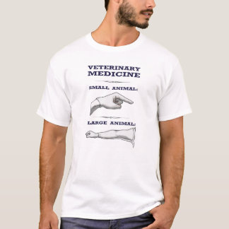 Veterinaire T-shirt groot versus klein dier