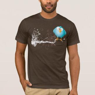 vette blauwe vogel t shirt