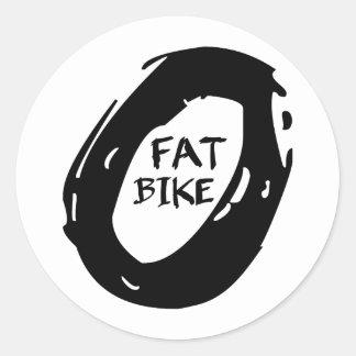 Vette Fiets Ronde Sticker