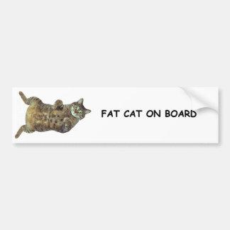 Vette Kat aan boord Bumpersticker