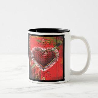 Vèvè van Dantor van Erzulie Tweekleurige Koffiemok