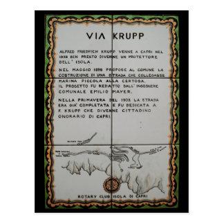 via Krupp ceramiektegel, Capri - Italië Briefkaart
