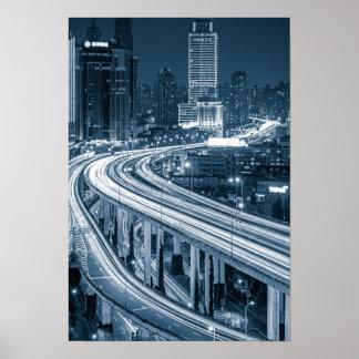 Viaduct 1 van Shanghai poster
