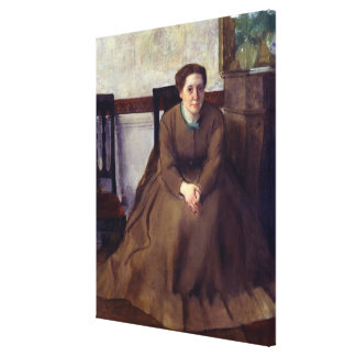 Victoria Dubourg door Edgar Degas Canvas Print