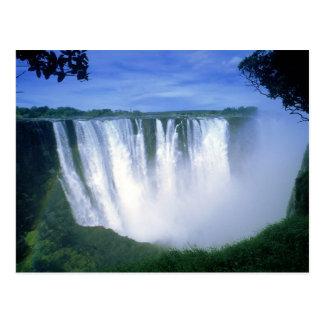 Victoria valt Zimbabwe Afrika Briefkaart