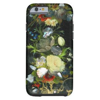 Victoriaans Bloemen Ingelegde Moeder van Parel Tough iPhone 6 Hoesje