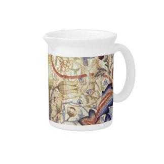 Victoriaans bloemenwaterkruik drank pitcher