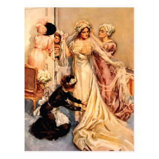 Victoriaans Bruid om te zijn Briefkaart