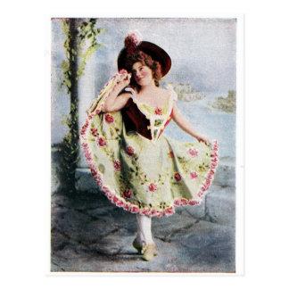 Victoriaans de dansersbriefkaart van de Fee Briefkaart