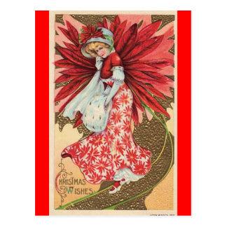 Victoriaans het meisjesbriefkaart van de briefkaart