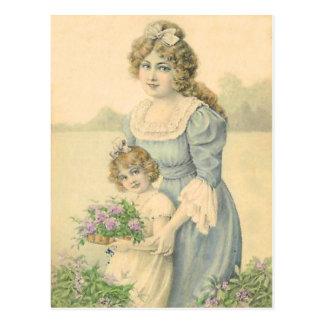 Victoriaans het Plukken van de Dochter van het Briefkaart
