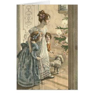 Victoriaans Kerstkaart - Familie Briefkaarten 0