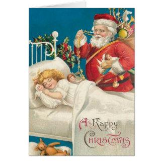 Victoriaans Kerstman en de Kerstkaart van het Kind Kaart