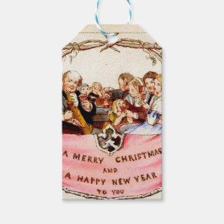 Victoriaans Kerstmis Cadeaulabel