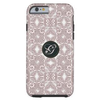 Victoriaans roze patroon. Monogram Tough iPhone 6 Hoesje