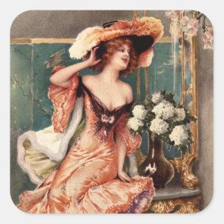 Victoriaans Speld op het Kostuum Parijs van de Vierkante Stickers