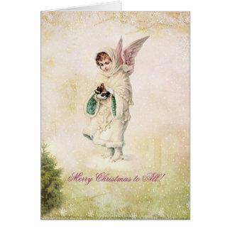 Victoriaans Vintage Kerstkaart Kaart