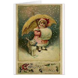 Victoriaans Vintage Retro Kerstmis van het Kind en Briefkaarten 0