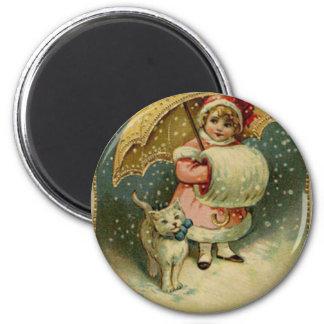 Victoriaans Vintage Retro Kerstmis van het Kind en Magneet