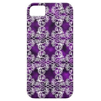 Victoriaans Violetkleurige & van het Kant iPhone 5 Barely There iPhone 5 Hoesje