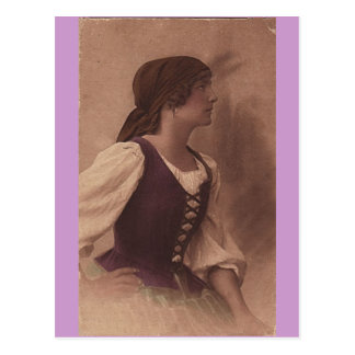 Victoriaans zigeunerbriefkaart briefkaart