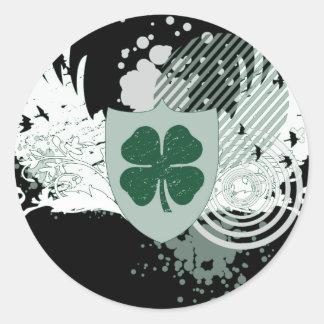 vier bladklaver: hifi: ronde stickers