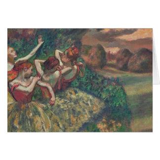Vier Dansers, Edgar Degas Kaart
