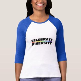 Vier de Dames van de Diversiteit 3/4 Raglan van T Shirt