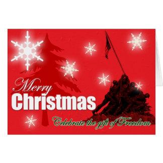 Vier de Militaire Kerstkaart van de Vrijheid Briefkaarten 0
