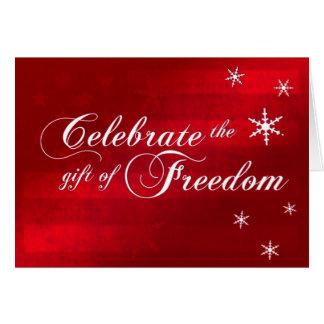Vier de Militaire Kerstkaart van de Vrijheid Kaart