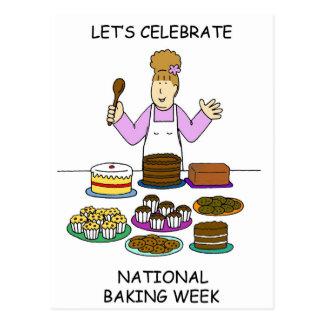 Vier de Nationale Week van het Baksel Briefkaart