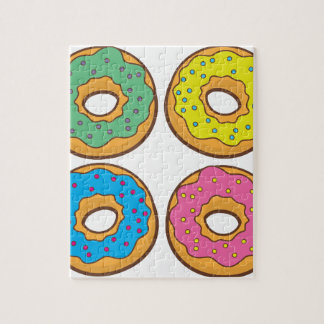 vier donuts puzzels