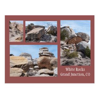 Vier Foto's van de Witte Rotsen, GJ, Co Briefkaart