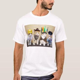 Vier Grappige Katten T Shirt