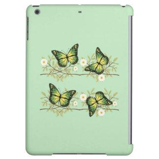 Vier groene vlinders