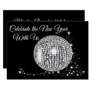 Vier het Nieuwjaar met ons de Bal van de Disco Kaart