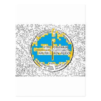 Vier Hoeken Vier Staten Briefkaart