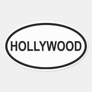 VIER Hollywood, Florida Ovale Sticker