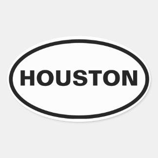VIER Houston Ovaalvormige Sticker