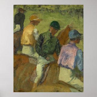 Vier Jockeys Poster