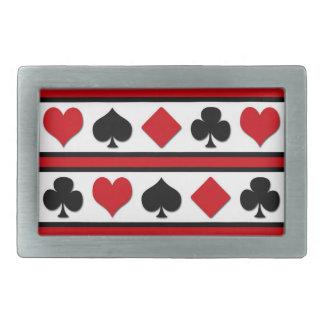Vier kaartkostuums gespen
