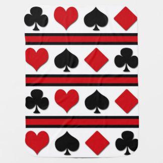Vier kaartkostuums inbakerdoek