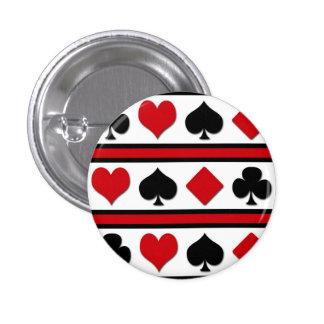Vier kaartkostuums ronde button 3,2 cm