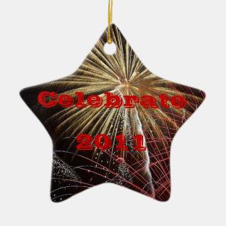 Vier - Klantgericht Jaar Keramisch Ster Ornament