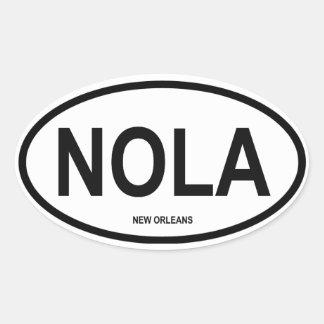 """VIER New Orleans """"NOLA """" Ovale Sticker"""