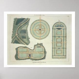 Vier Plannen voor Moestuinen, van 'Wenken op Poster